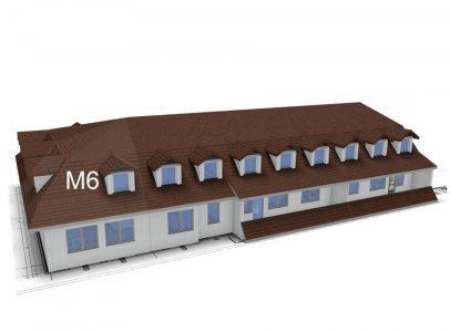 Widok apartamentów dwupoziomowych m6